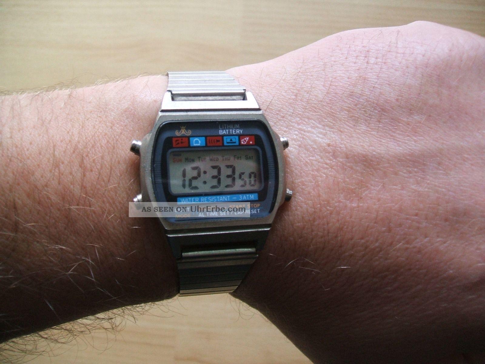 Uhr Sammlung Alte Retro Meister - Anker Cr2016 Digital Herren Armbanduhr Armbanduhren Bild