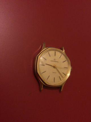 Klassische Continental Herrenarmbanduhr Handaufzug,  Achteckig,  Funktioniert Bild