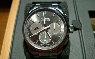 Union Glashütte Belisar Titan Chronograph Ungetragen Modell 2012 Uvp 3100,  - Bild
