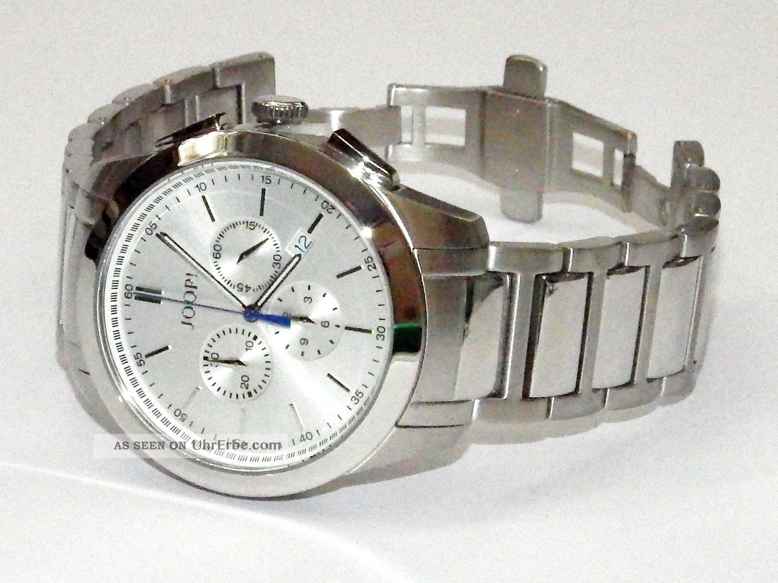 Joop Joop Gents Edelstahl Chrono Chronograph Herren Uhr Jp100711f09 Armbanduhren Bild