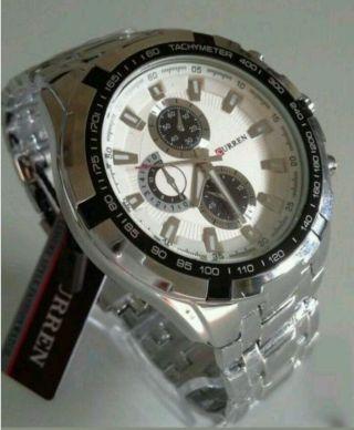 Luxus Edelstahl Herren Armbanduhr Uhr Analog Quarzuhr Bild
