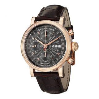 Stuhrling 139,  04 Prestige Prominente Schweizer Automatik Chronograph Herrenuhr Bild