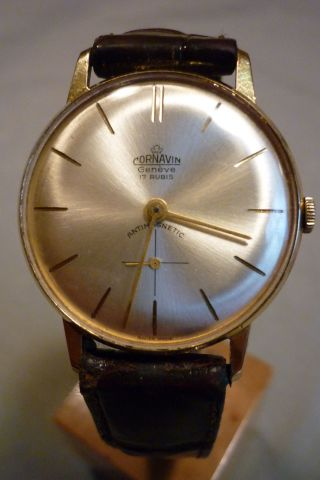 Herrenuhr Cornavin Geneve 17 Rubis Mechanisch Handaufzug Armbanduhr Bild