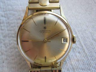 Alte Hau Junghans 17 Jewels Bauhaus - Stil (max Bill) Mit Vergoldetem Armband Bild
