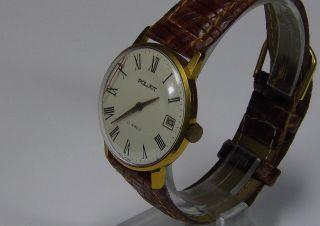 Poljot 17 Jewels Vergoldete Ussr Russische Uhr Ca.  1970 Vintage Sammlerstück Bild