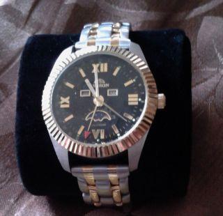 Astron Schweizer Herren Armbanduhr 585 Hartvergoldung Chronograph Bild