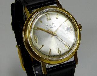 Poljot 17 Jewels Top Vergoldete Ussr Russische Uhr Ca.  1970 Vintage Sammlerstück Bild