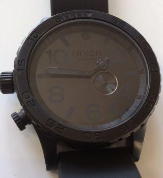 RaritÄt Nicht In Deutschland Zu Kaufen Nixon Uhr 51 - 30 Pu All Black Ungetragen Bild