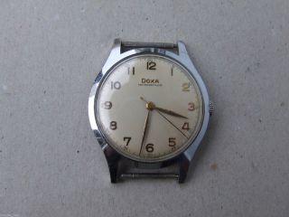 Große Doxa Armbanduhr - Handaufzug - Swiss Made - 40iger O.  50iger Jahre ? Bild