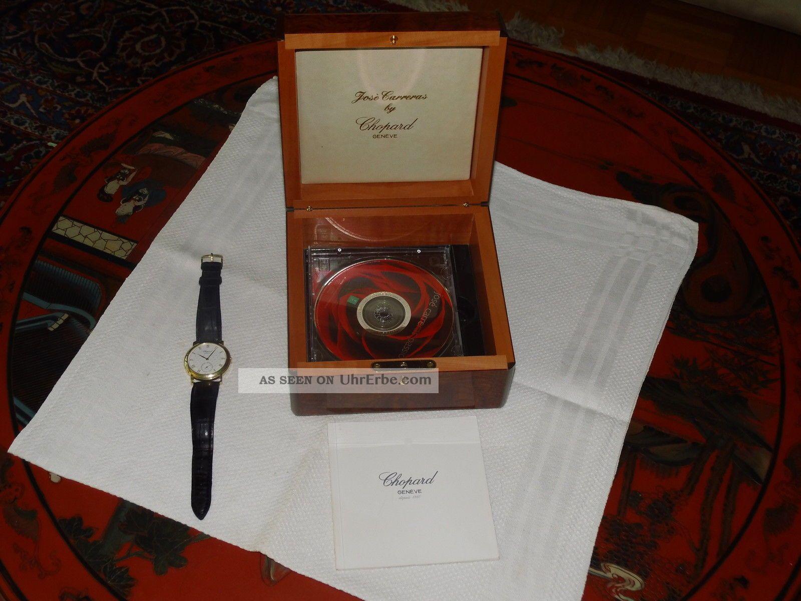 Sammlerstück Jose`carreras Uhr Aus 18ct Gold Motiv Wiener Staatsoper Armbanduhren Bild