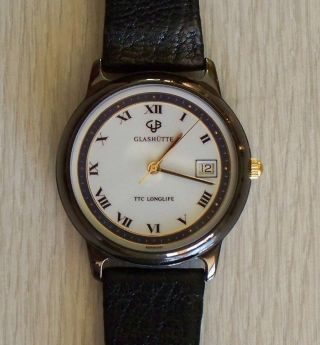 Herren - Armbanduhr Glashütte Gub Ttc - Longlife Quarzuhr Bild