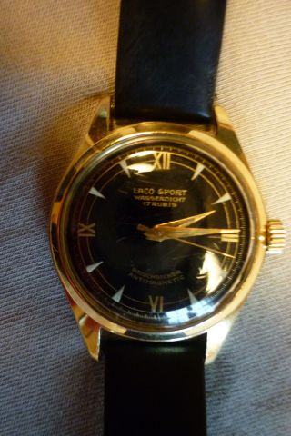 Herrenuhr Laco - Sport 17 Rubis Mechanisch Handaufzug Armbanduhr Vw Bild