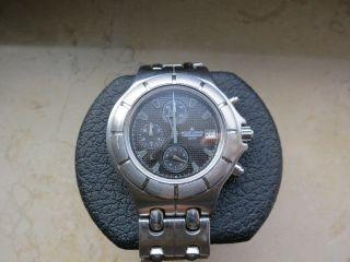 Jacques Lemans Chronograph 1 - 907a Stahl/stahl Saphirglas 5atm Mit Papieren Top Bild