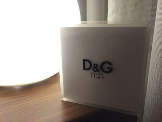 D&g Time Dolce & Gabbana Herren Uhr Armbanduhr Lederarmband Chronograph Bild