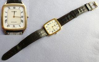 Tissot Stylist Herren Uhr Armbanduhr Herrenuhr Damenuhr Damen Vergoldet Flach Bild