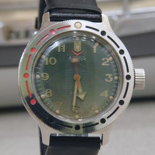 Boctok 17jewels Vostok Herren Militär Uhr Russian Men´s Watch Handaufzug Arrow Bild
