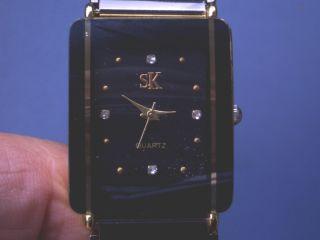 Seltene Sk Herren Armbanduhr Gut Erhalten Läuft Gut. Bild
