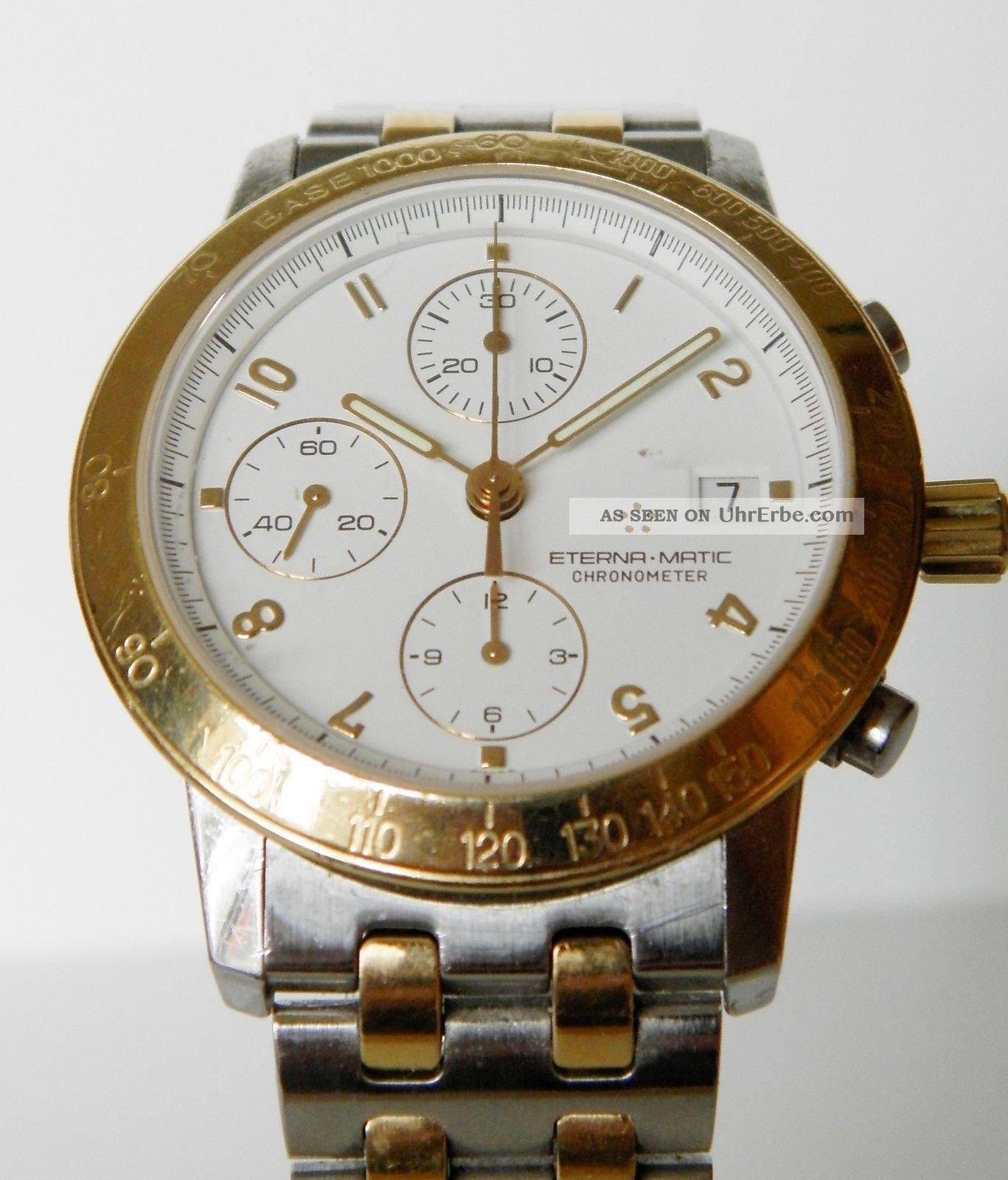 Eterna - Matic,  Kontiki Chronometer Chronograph,  Mit Box Armbanduhren Bild