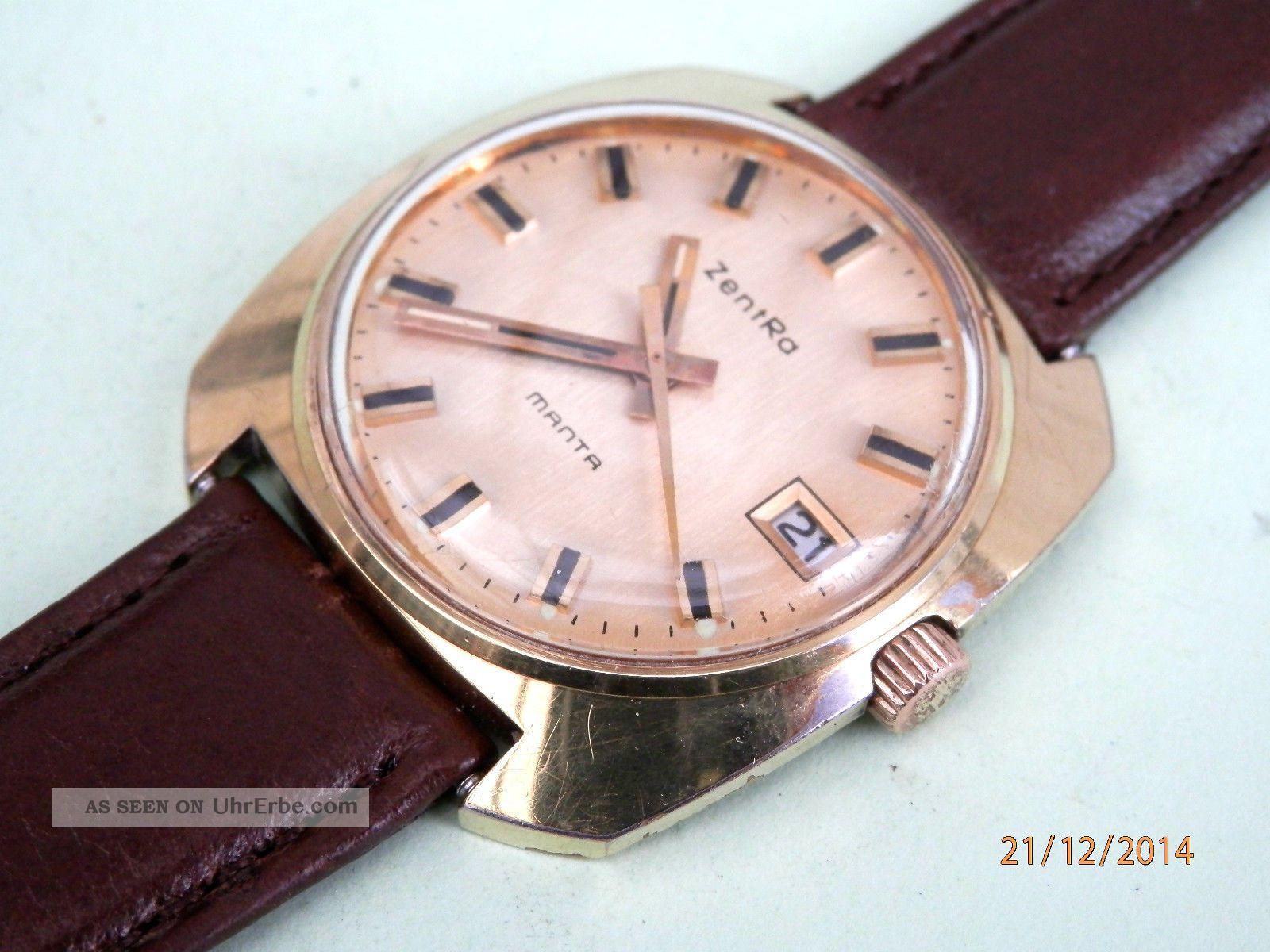 Zentra Herrenarmbanduhr 60er Jahre Modell Manta °°° Kultuhr °°° Armbanduhren Bild