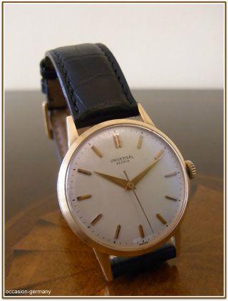 Herrenuhr,  Universal Geneve,  Vintage,  18 Karat Gelbgold,  Handaufzug,  Um 1950/60. Bild