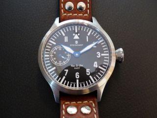 Steinhart Nav - B Uhr Handaufzug 47mm,  Unitas 6497,  Fliegeruhr,  Komplettpaket Bild