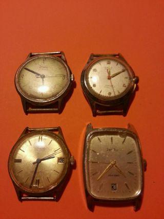 Uhr Konvolut Handaufzug / Diehl,  Technos,  Zentra,  Osco Bild