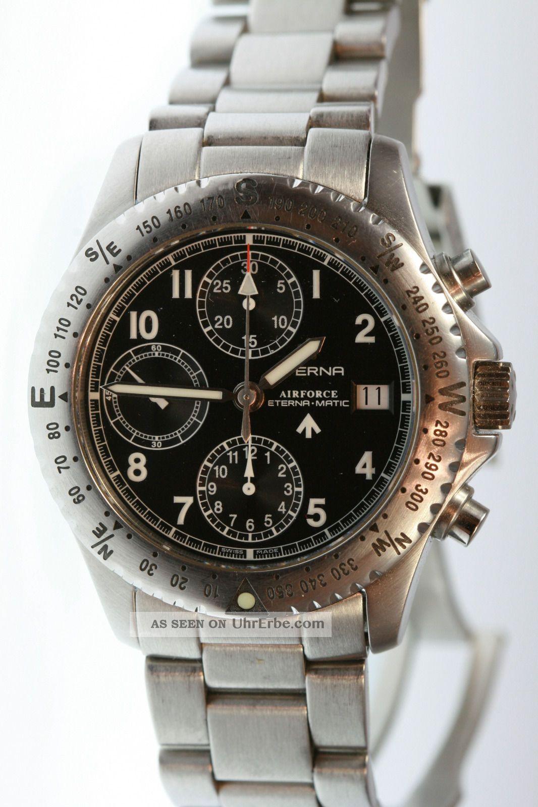 Eterna - Matic Airforce Chronograph Armbanduhren Bild