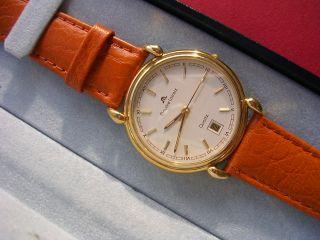 Herren - Armbanduhr Maurice Lacroix Zwiss Made Vergoldet Bild