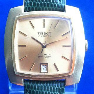 Vintage Herren Armbanduhr Tissot Visodate Automatic Stylist Kal 784 - 2 Bild