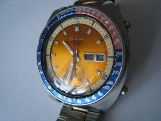 Sehr Schöner Seiko Pepsi Automatic Chronograph Bild