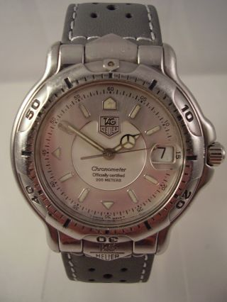 Tag Heuer 6000 Automatic Chronometer Armbanduhr Herrenuhr Taucheruhr Watch Bild
