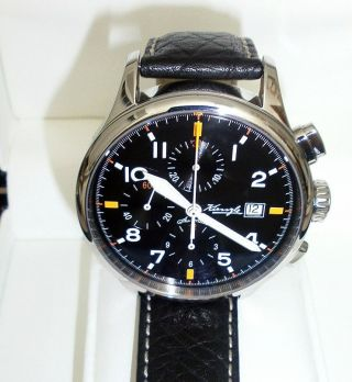 Kienzle Herrenuhr Swiss Automatik Chronograph Eta 7750 Leder Armband Bild