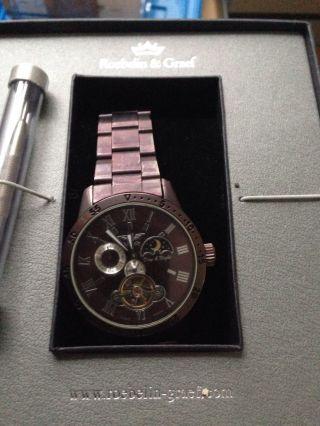 Roebelin & Graef Karthago Automatikuhr,  Armbanduhr,  Herrenuhr,  Sonne Mondphase Bild