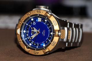 Invicta Subaqua Noma V Automatik Gold/blau,  Limited Edition Bild