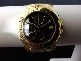 Claude Valentini Millenium Sports Quarz Chronograph In Gold Herrenuhr Bild