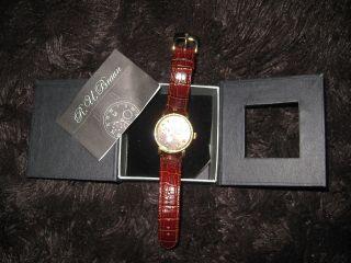 Armbanduhr Chronograph R.  U.  Braun Modell Rub - D - 01 - 004gl Jewels 20 Autonatic Bild