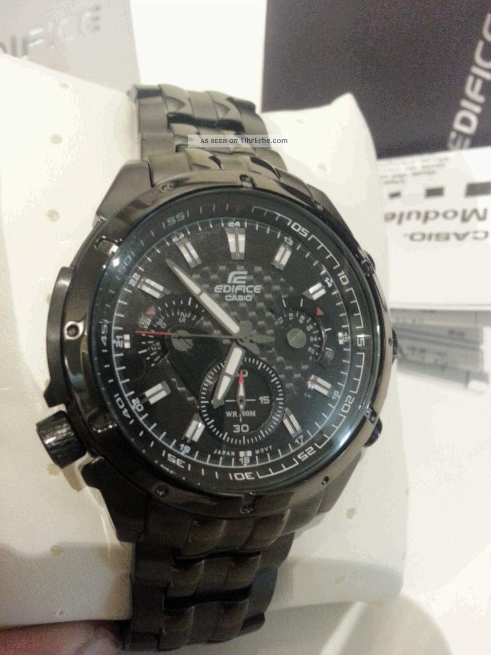 9cbdf7082691 Casio Edifice Ef - 535bk - 1av Reloj Watch Herrenarmbanduhr Montre Orologio