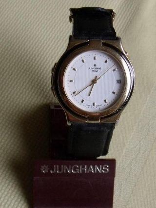 Junghans Mega - Die Erste Analoge Funkuhr - Mit Analogdatum Werk W608 Bild