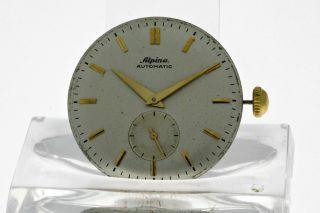 Vintage Alpina Pendel Automatikwerk Kaliber 582 Mit Zifferblatt Und Zeiger 50ies Bild