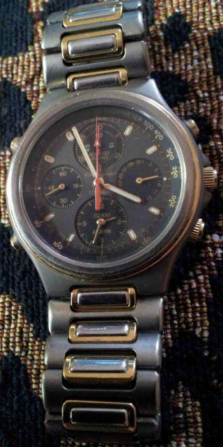 Seiko Chrono Chronograph Bicolor Titan Gold 4 Chronos Bild