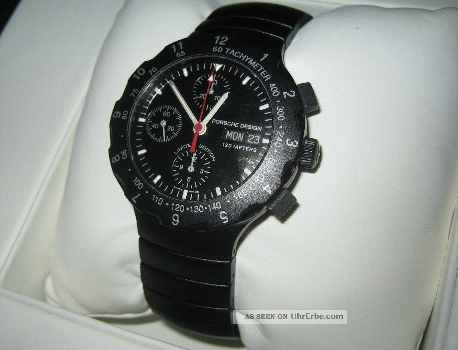 Eterna Porsche Design Titan Chronograph Schwarz 120m Und Absolut Armbanduhren Bild