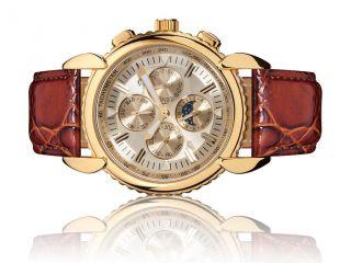Roebelin & Graef Vergoldete Automatikuhr,  Armbanduhr,  Herrenuhr,  Sehr Rar Bild