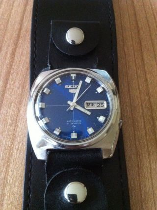 Seiko Armbanduhr Für Herren Mechanisch Automatic Uhr Herrenarmbanduhr Bild