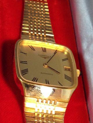 Longines Automatik Uhrwerk Herren Armband Uhr Swiss Made Bild