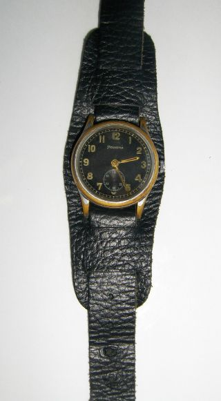 Helvetia Dh Military Watch Wwii Period Bild