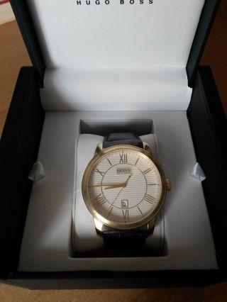 Hugo Boss Herren - Armbanduhr Xl Classico Round 1512972 - Analog - Quarz - Leder Bild