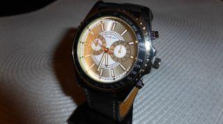 Armbanduhr Herrenuhr Jay Baxter Weiches Lederarmband Wasserresistent Bild