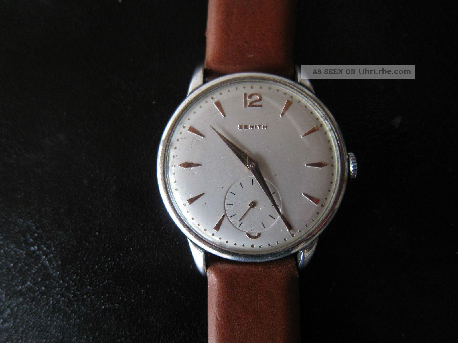 Zenith Oversize Herrenuhr Dresswatch Uhr Armbanduhr Dress Watch Vintage Armbanduhren Bild