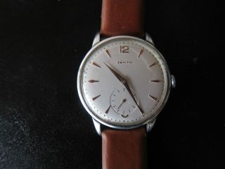 Zenith Oversize Herrenuhr Dresswatch Uhr Armbanduhr Dress Watch Vintage Bild