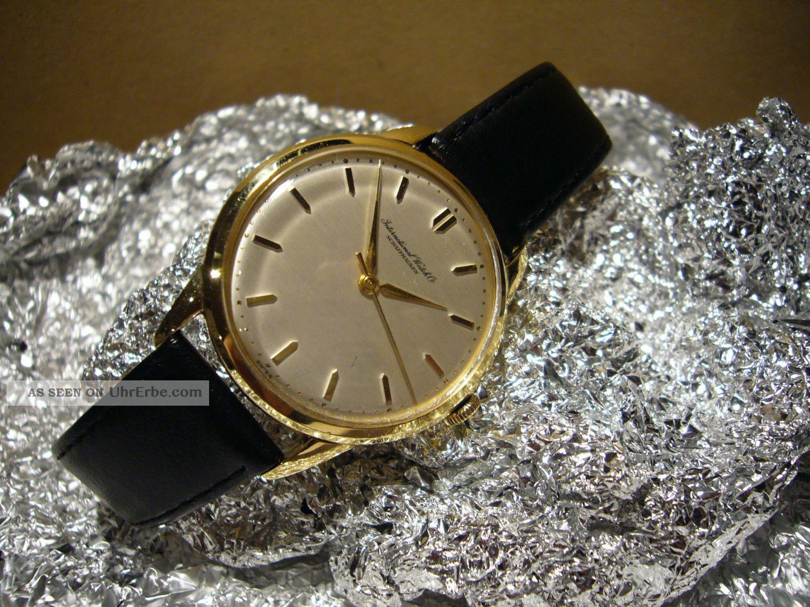 Iwc Schaffhausen 18 Ct.  Gold Handaufzug Kaliber C 89 Armbanduhren Bild